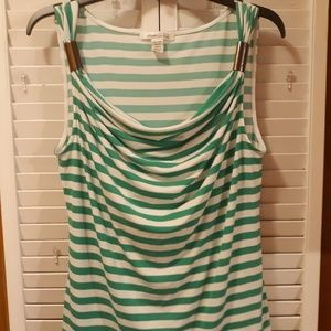 KENNETH  COLE striped stretch top